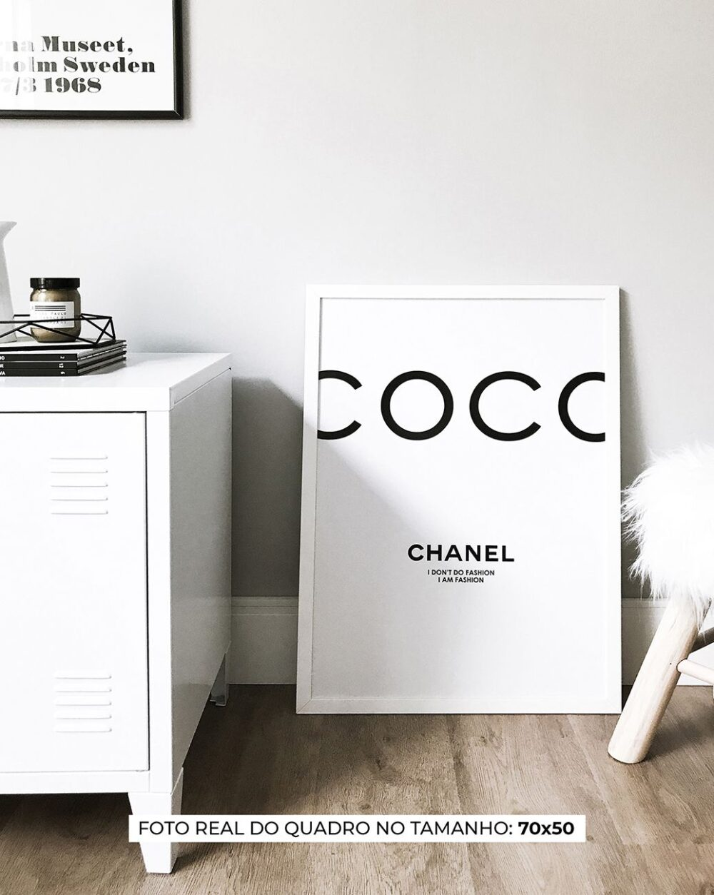 QUADRO COCO CHANEL decorativos