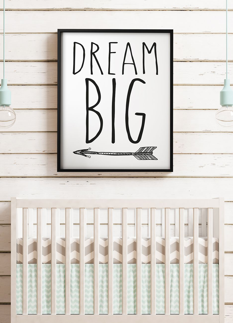QUADRO INFANTIL DREAM BIG decorativos