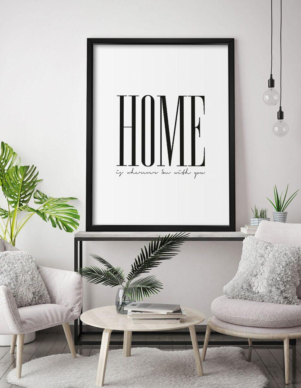 QUADRO HOME WHEREVER decorativos