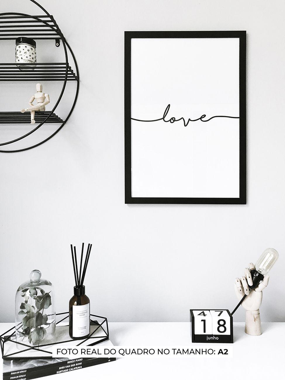 QUADRO LOVE MANUSCRITO decorativos