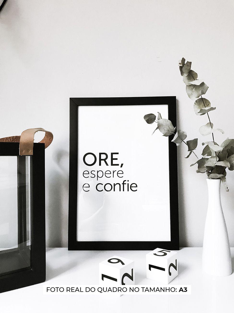 QUADRO ORE ESPERE E CONFIE decorativos