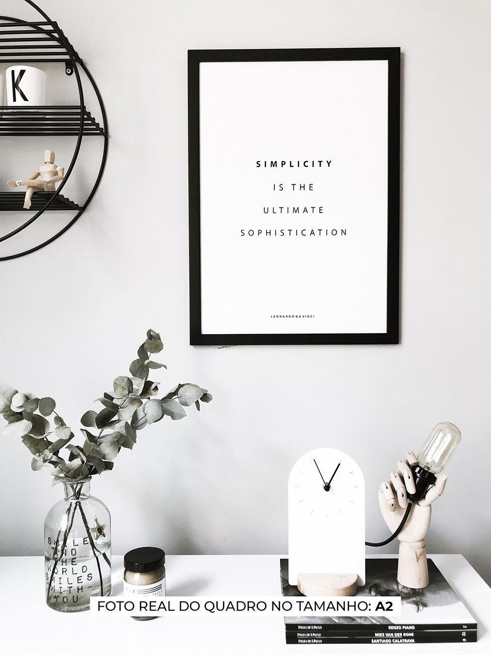QUADRO SIMPLICITY decorativos