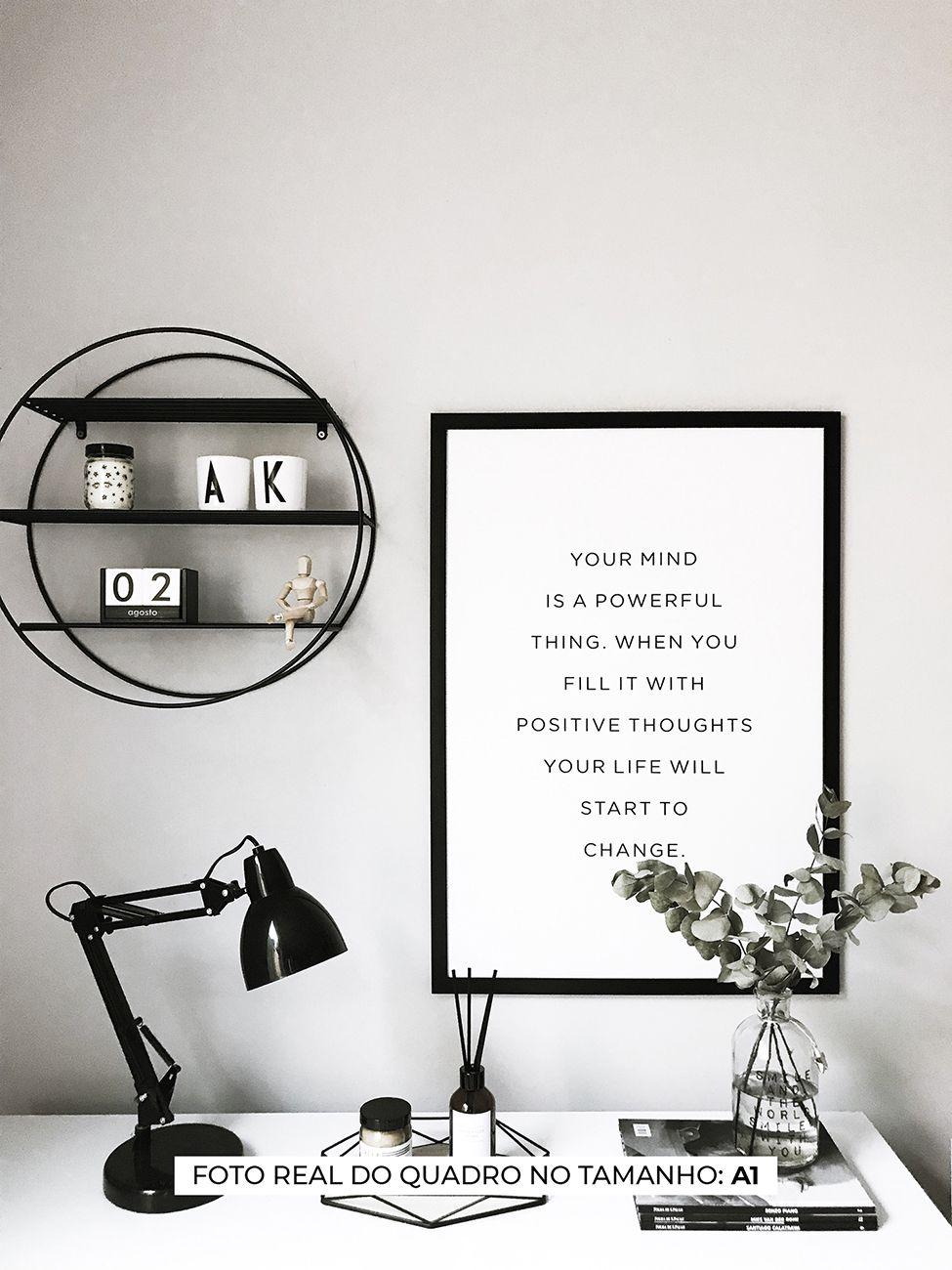 QUADRO YOUR MIND decorativos