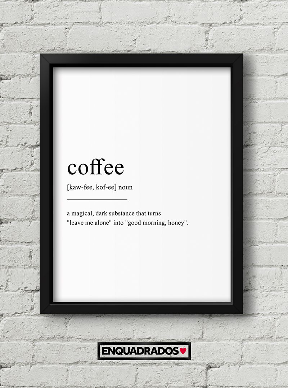 QUADRO COFFEE decorativos