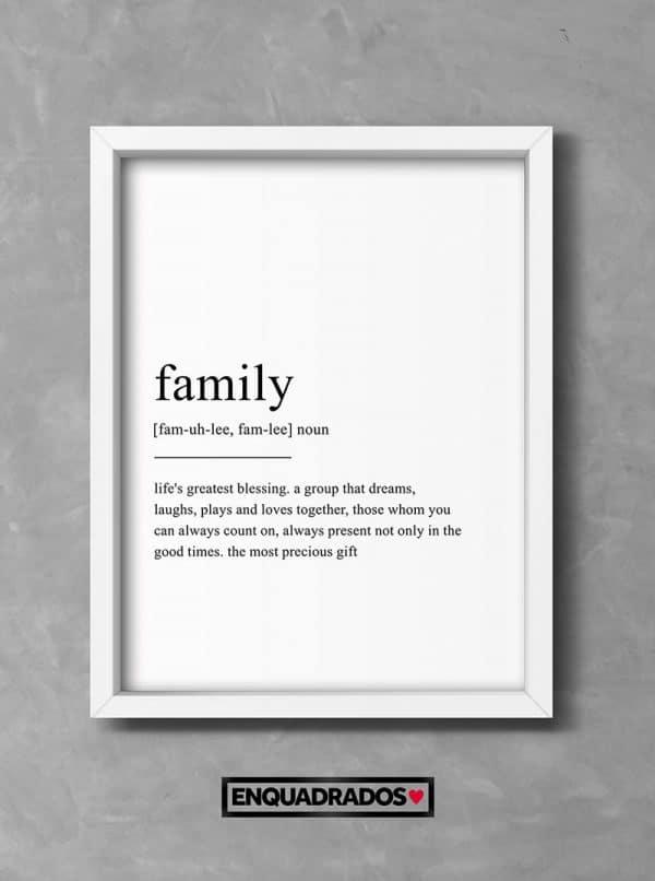 QUADRO FAMILY decorativos