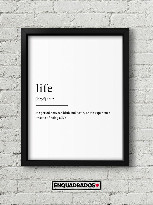 QUADRO LIFE decorativos