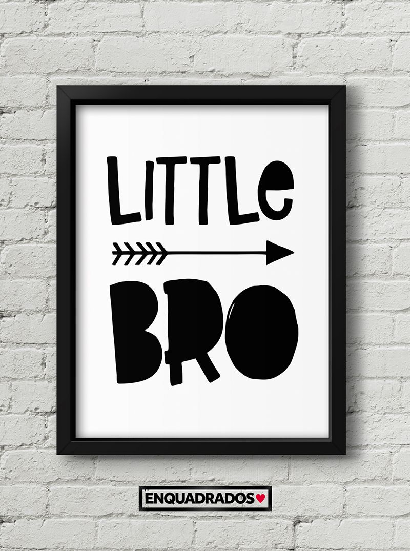 QUADRO INFANTIL LITTLE BRO decorativos