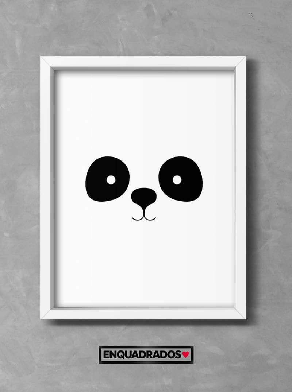 QUADRO INFANTIL PANDA decorativos
