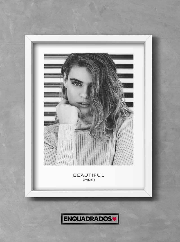 QUADRO BEAUTIFUL WOMAN decorativos