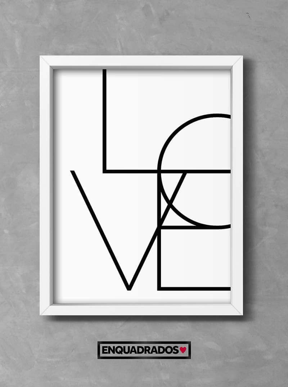QUADRO LOVE decorativos