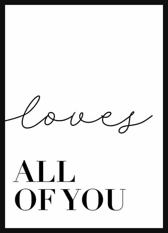 KIT DE QUADROS ALL OF ME / LOVES ALL OF YOU decorativos
