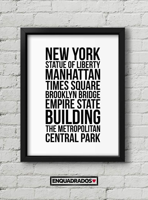 QUADRO NEW YORK TOUR decorativos